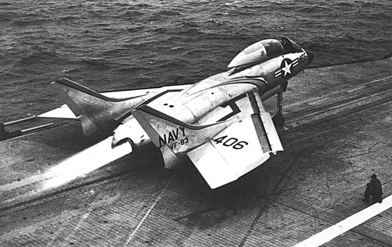 VOUGHT F-8 CRUSADER  841584VoughtF7U3MCutlassUSSIntrepidCVA111954