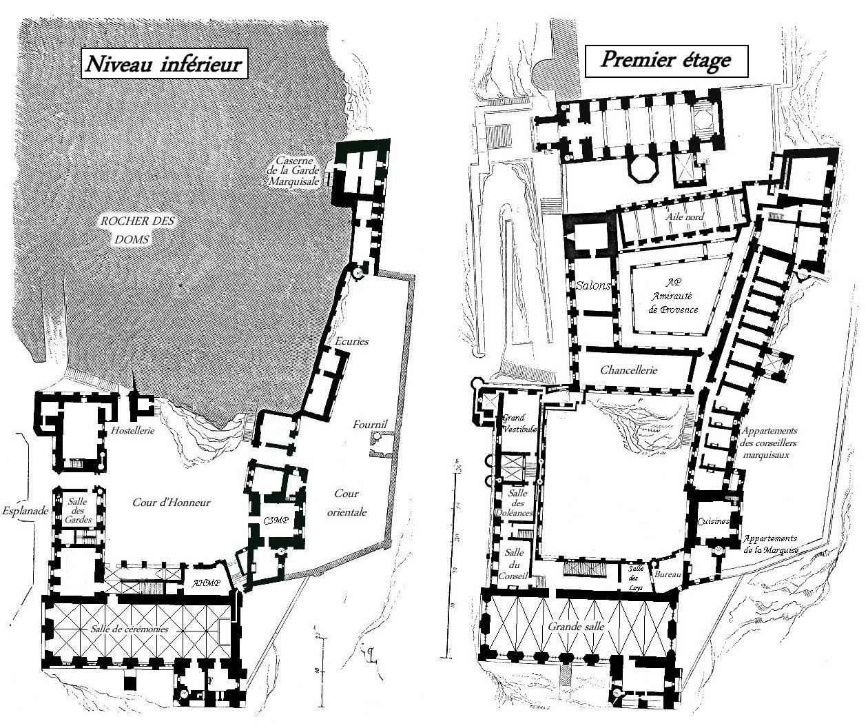 Plan du chateau 848522avignon