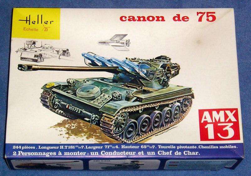 AMX 13 canon de 75 1/35ème Réf L 784 864568AMX1375784001Heller135