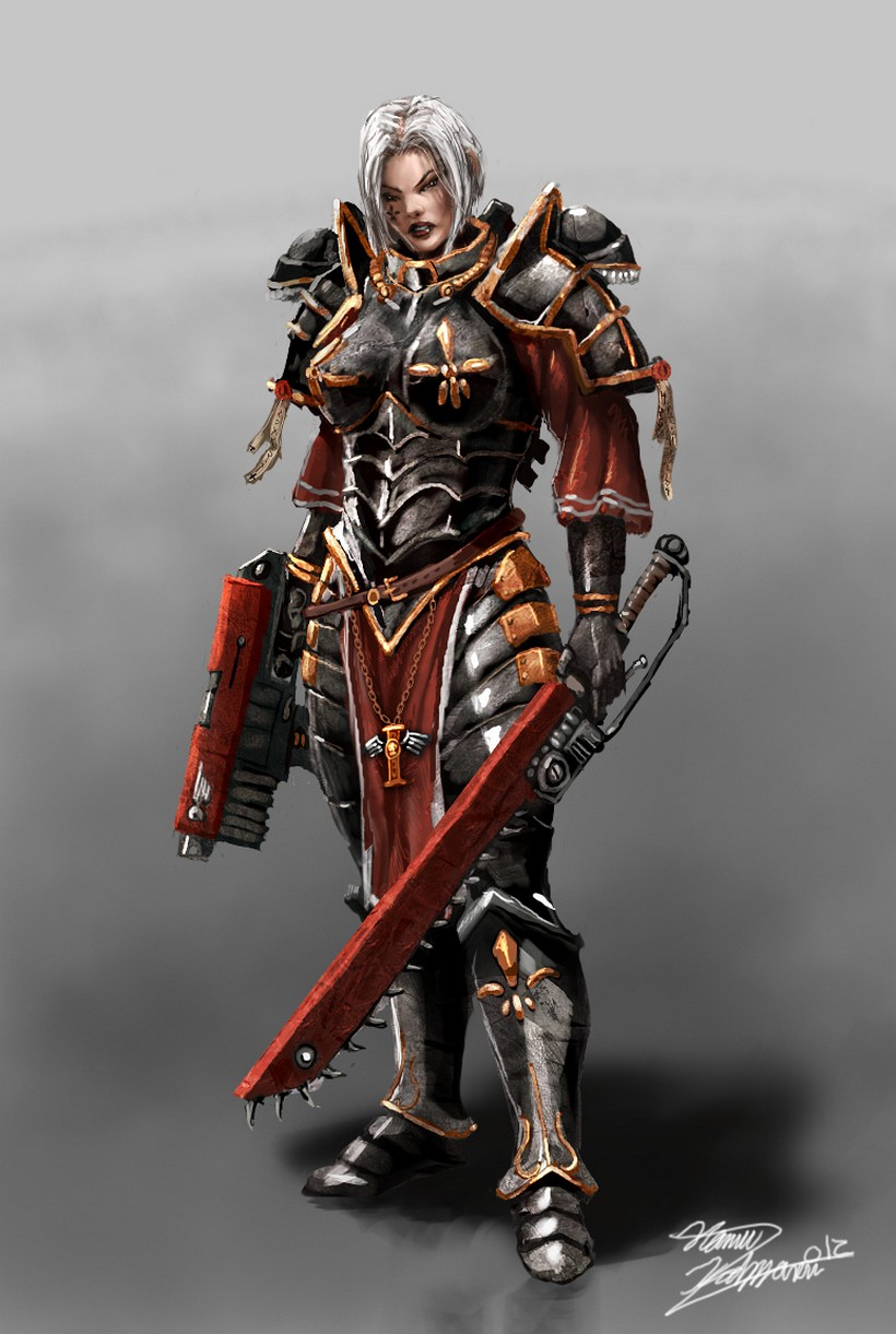 [W40K] Collection d'images : Inquisition/Chevaliers Gris/Sœurs de Bataille - Page 2 864797Sisterofbattle6