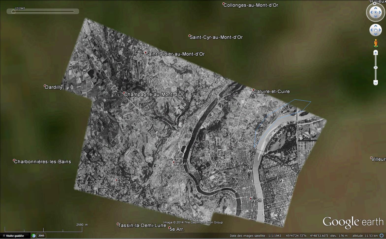 Les plus anciennes images disponibles dans Google Earth 875258Lyon