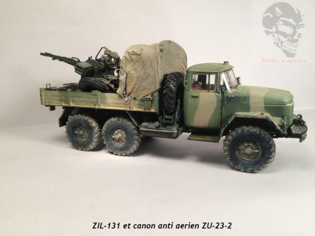 ZIL-131 avec canon anti-aérien ZU-23 en Afghanistan,maquette revell 1/35 877493IMG4540