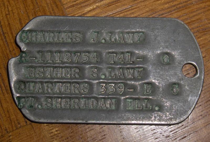 Les Dog Tag U.S. WWII 891047DogTag014