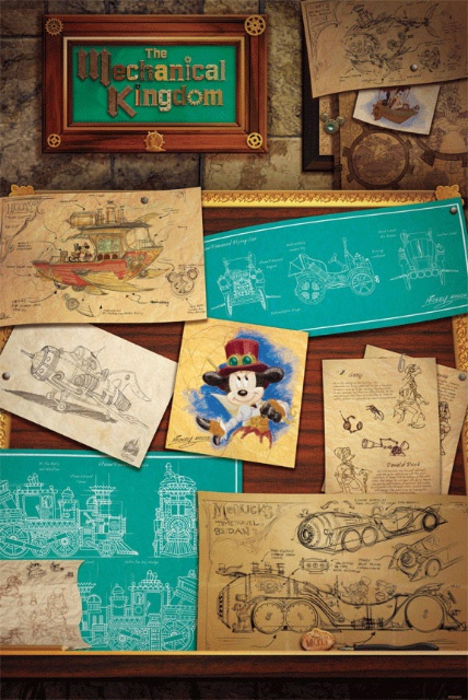 (Disneyland Park) The Disney Gallery - Exposition Mechanical Kingdoms - Steam-Driven Visions of a Victorian Future 898541rdg2