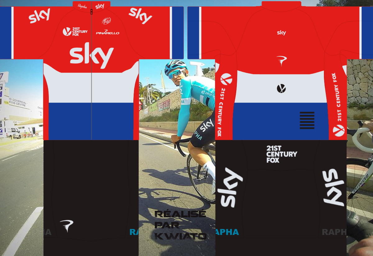 SKY Pro Cycling 904014skymaillotned
