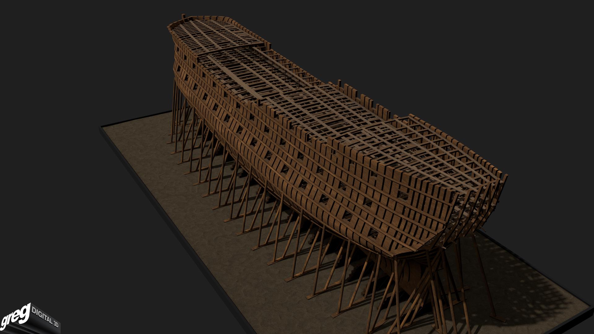 La Lucide - Vaisseau 74 canons (Création 3D) par Greg_3D 906206Squelette