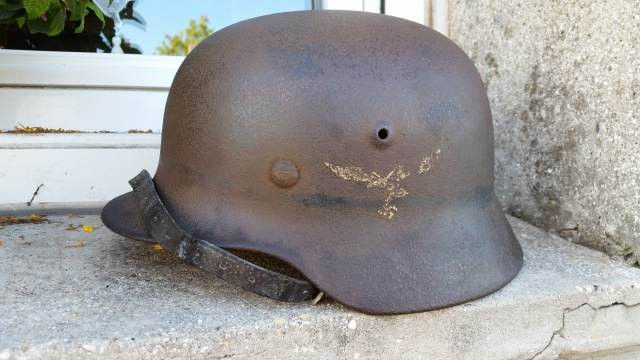 Casque Luftwaffe dans son jus. 90645520140831175915