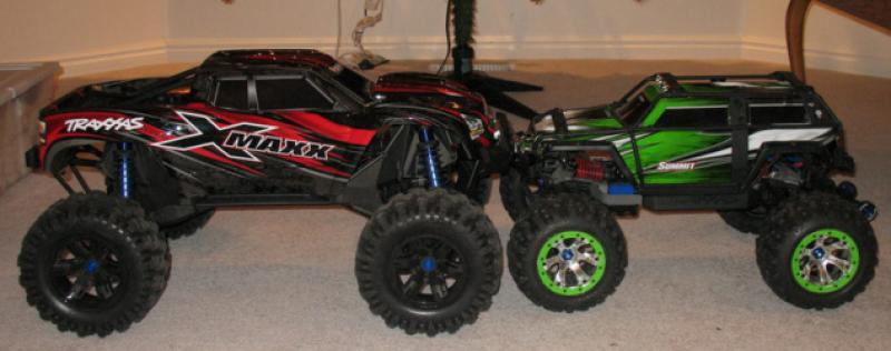 X-Maxx Comparaison taille avec d'autres modèles RC 908936Capture26