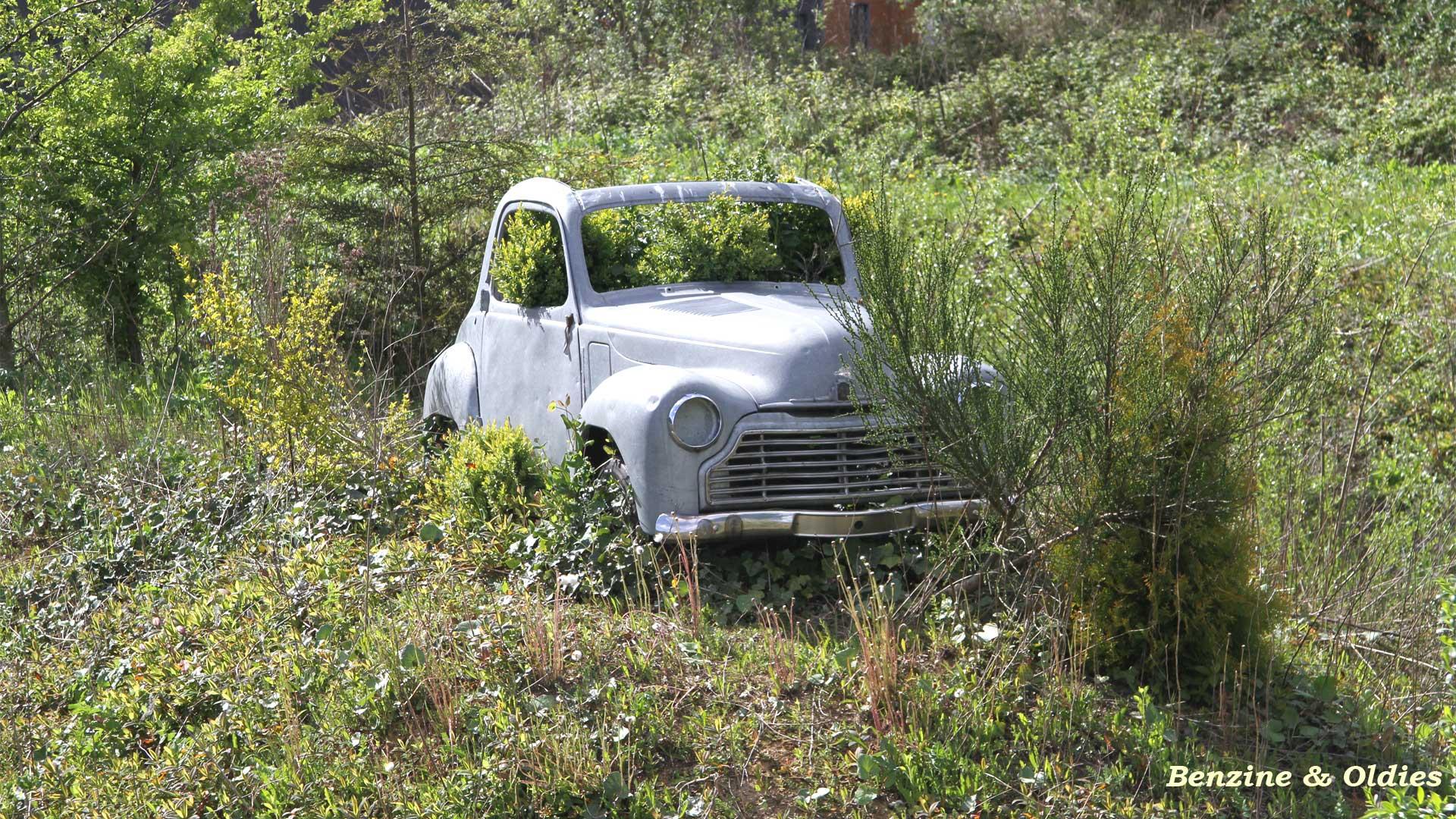 une Simca 6 carrosserie aluminium oubliée dans la nature - Simca6 913582simca6street08w19201080