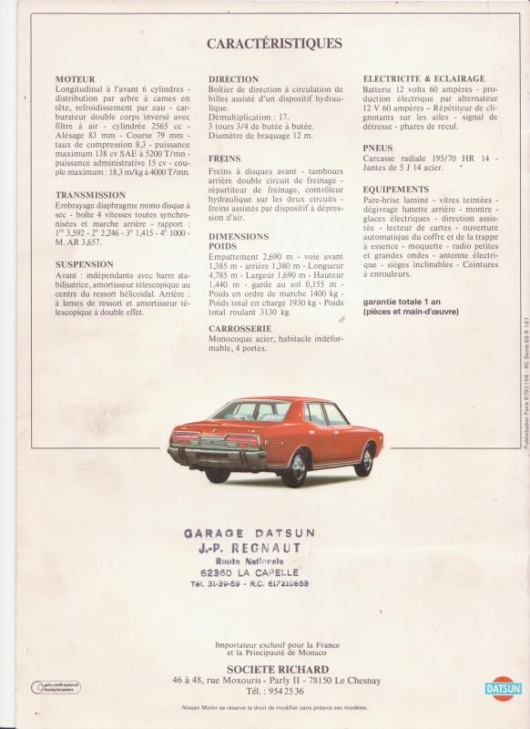 Topic Officiel DATSUN CEDRIC toutes générations! - Page 5 917592datsun260cp8001