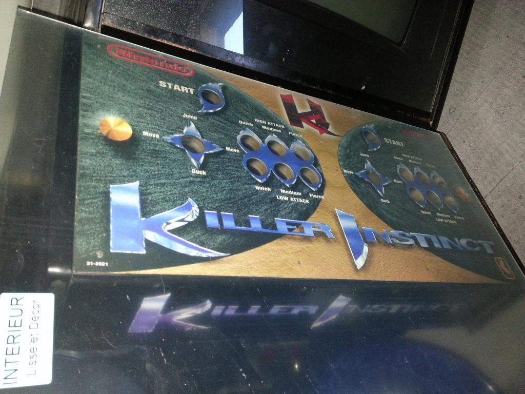 Fabrication d'une plaque de plexiglas pour panel de borne Killer Instinct 91916720130902173420
