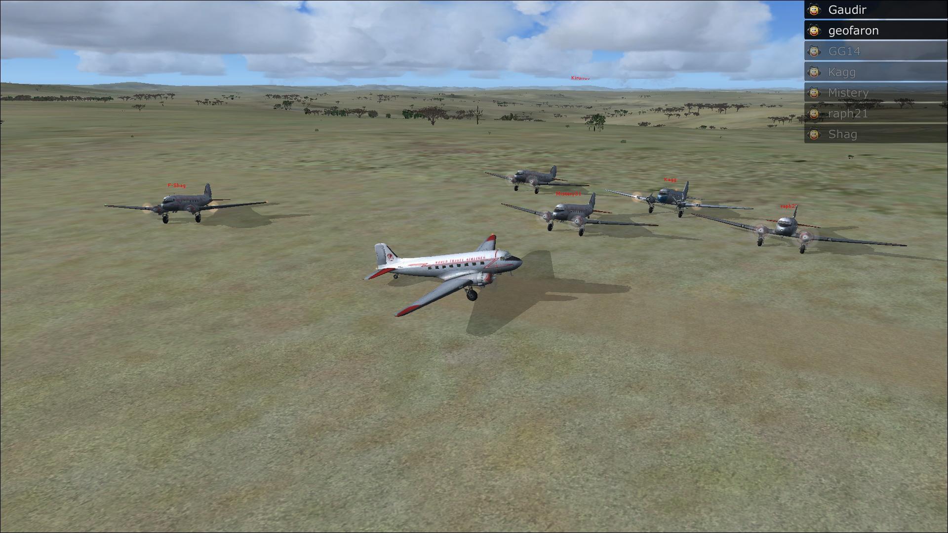 Vol en formation en Afrique (DC3) 9204982013222213250644
