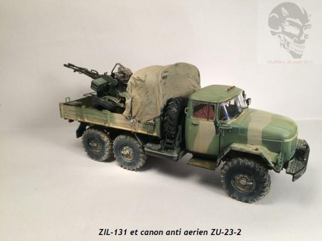ZIL-131 avec canon anti-aérien ZU-23 en Afghanistan,maquette revell 1/35 928067IMG4538