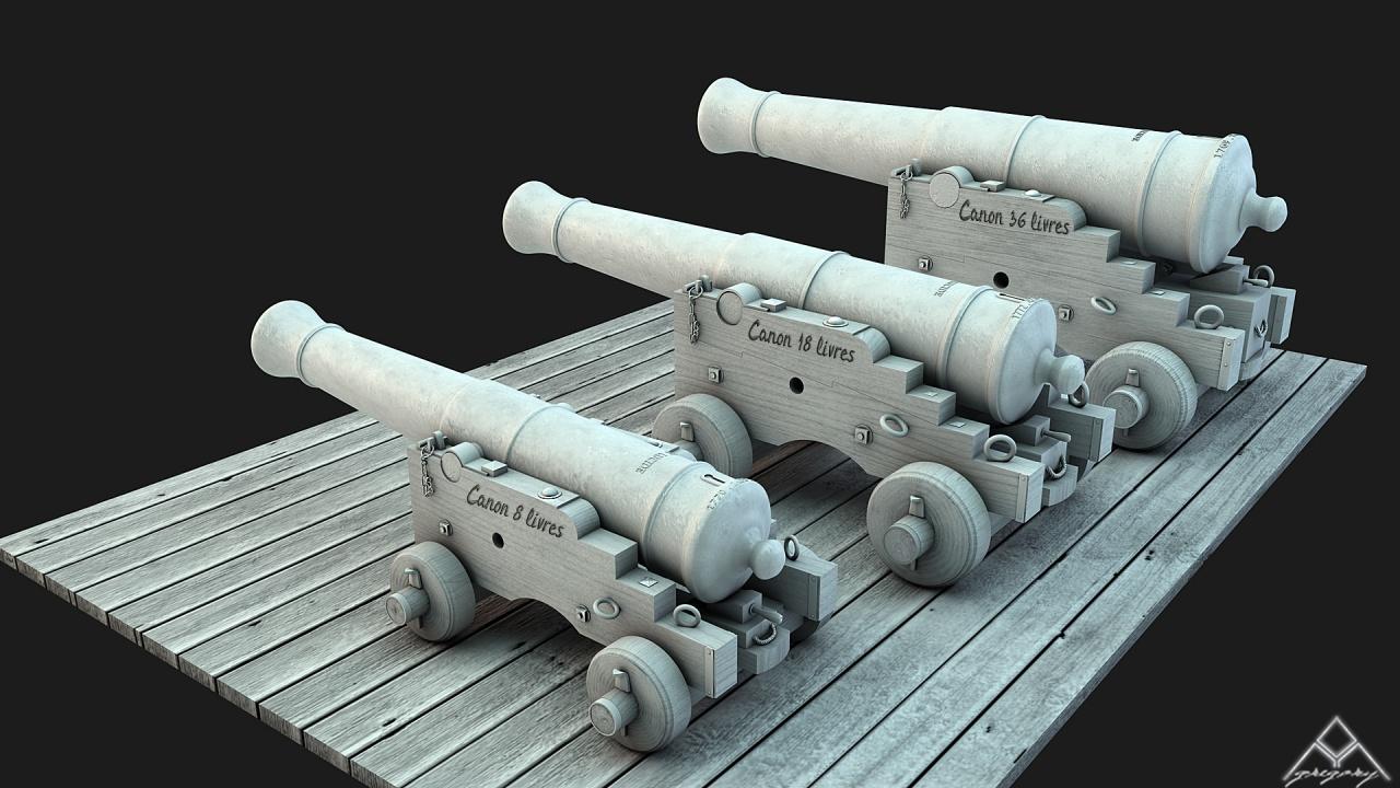 Canons pour le vaisseau de 74 canons - Page 3 931089Ensemblescanons