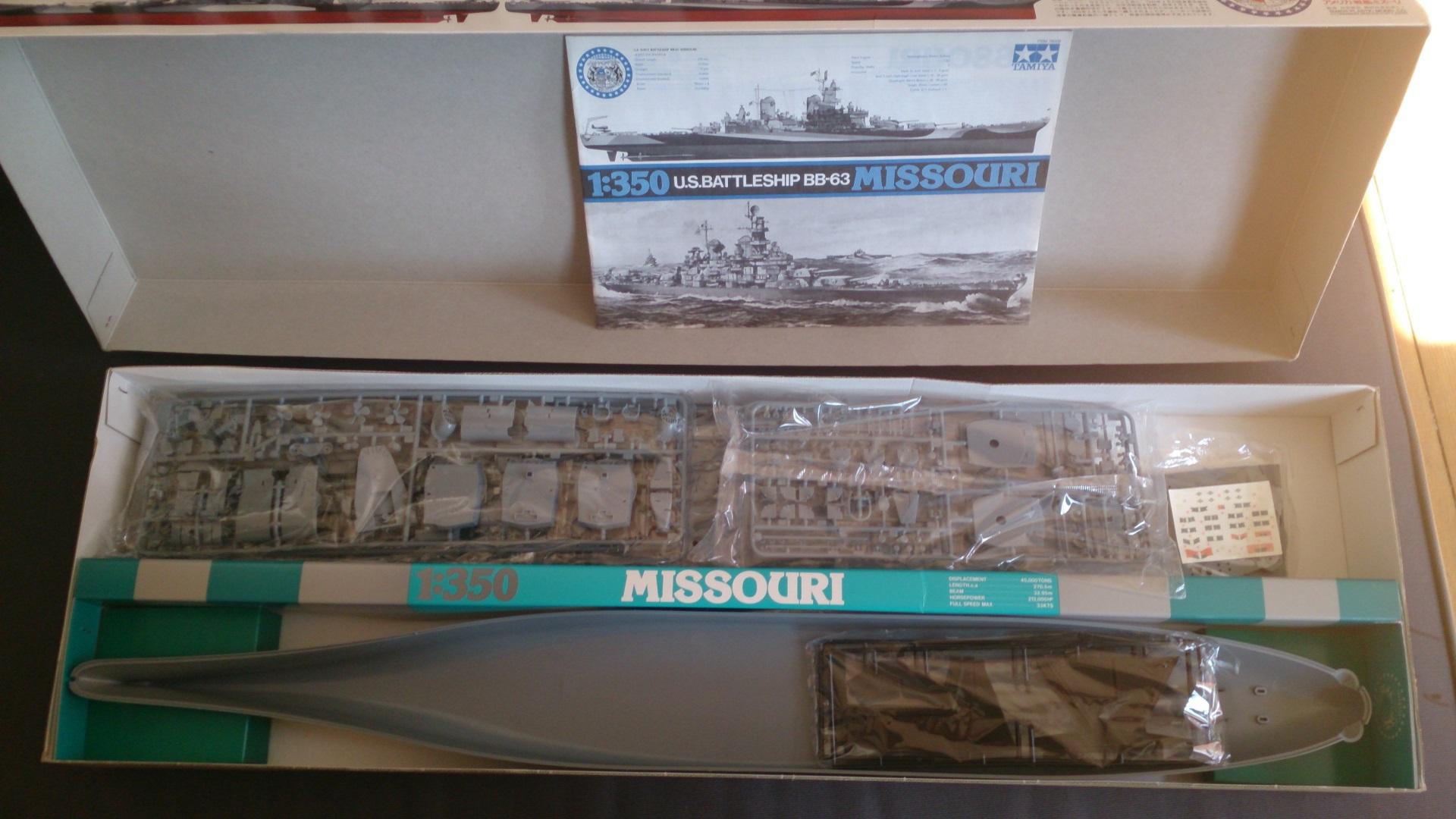 USS MISSOURI 1/350 TAMIYA 932757Missouribb632