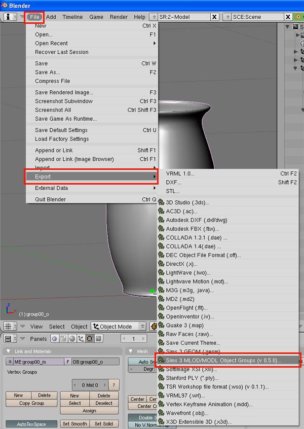 [Apprenti] [Blender 2.4 à 2.49] Créer et intégrer son premier mesh de A à Z / 8-Remplacement du mesh d'origine dans Blender 9353346527