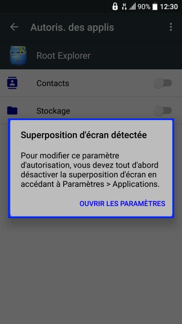 """[ASTUCE] Solutions au message """"Superposition d'écran détectée"""" 936773Screenshot20160918123032"""