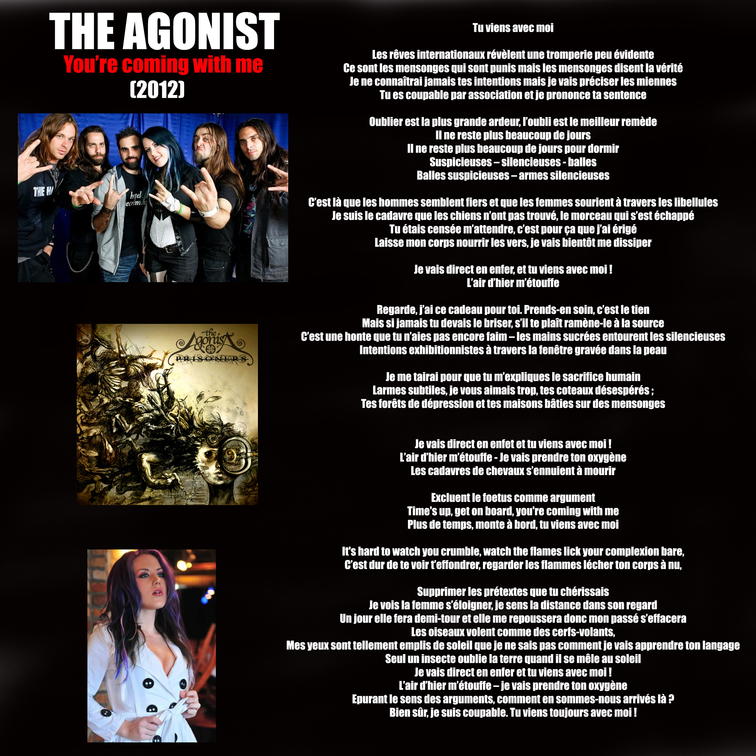 THE AGONIST You're Coming with me (2012) Tu viens avec moi ... 939983THEAGONISTYoureComingwithme2012