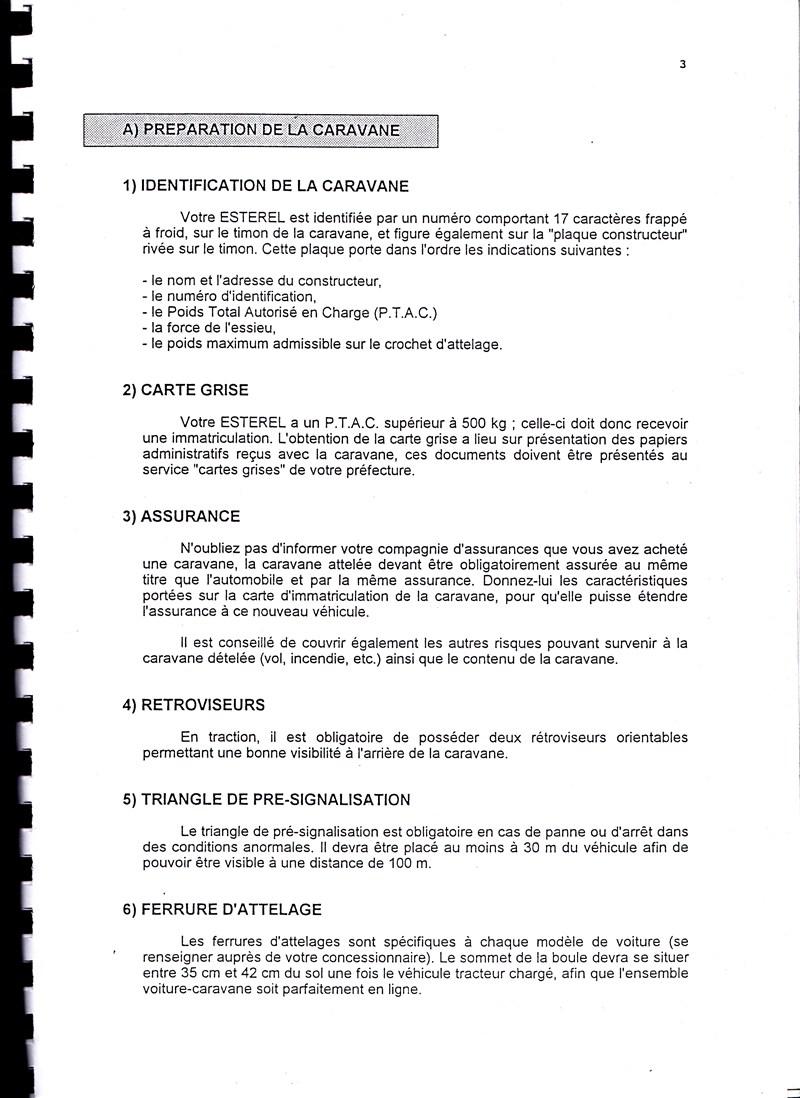 Manuel d'utilisation et d'entretien des caravanes Esterel 1997/1998 944118IMG0003