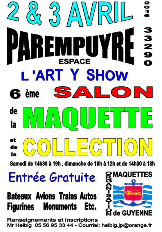 6éme salon de la maquette à Parempuyre(33) 944883AfficheexpoMAQ2G2016