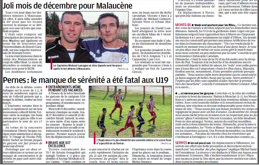 Football Club Féminin Monteux Vaucluse et Monteux foot seniors et jeunes  9500285319