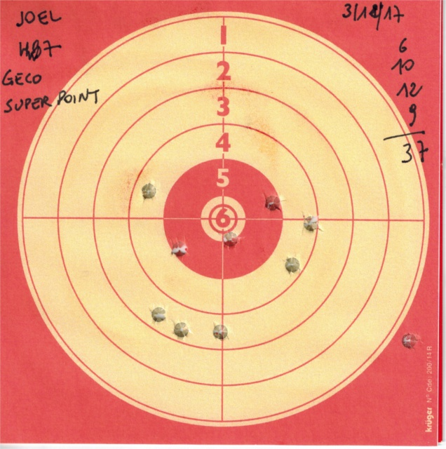 Tests plombs avec carabine Weihrauch HW97 BL 956417HW97GECOSUPERPOINT