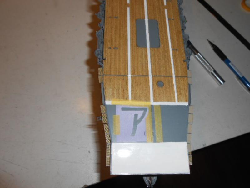 PA AKAGI 1/350 de chez Hasegawa PE + pont en bois par Lionel45 - Page 5 971277Peintureaka014