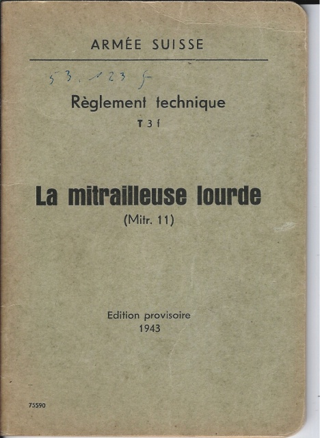 Mitrailleuse suisse Mod. 1911 976180MG111