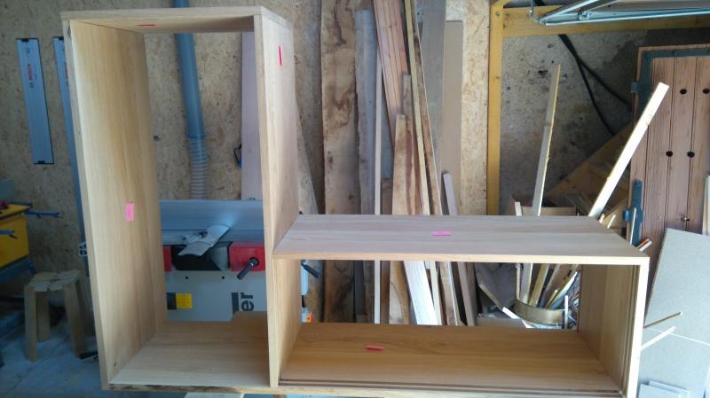 Création d'un meuble en chêne pour le salon 977696DSC0006