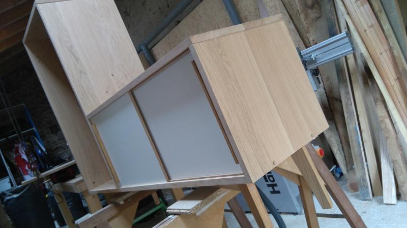 Création d'un meuble en chêne pour le salon 980754DSC0010