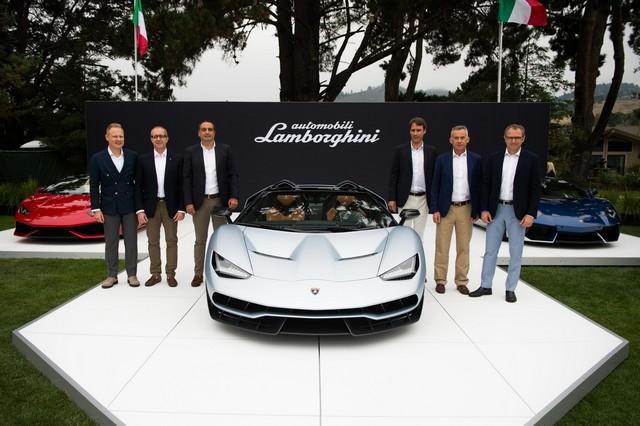Lamborghini a dévoilé sa Centenario Roadster à Pebble Beach  981730446260