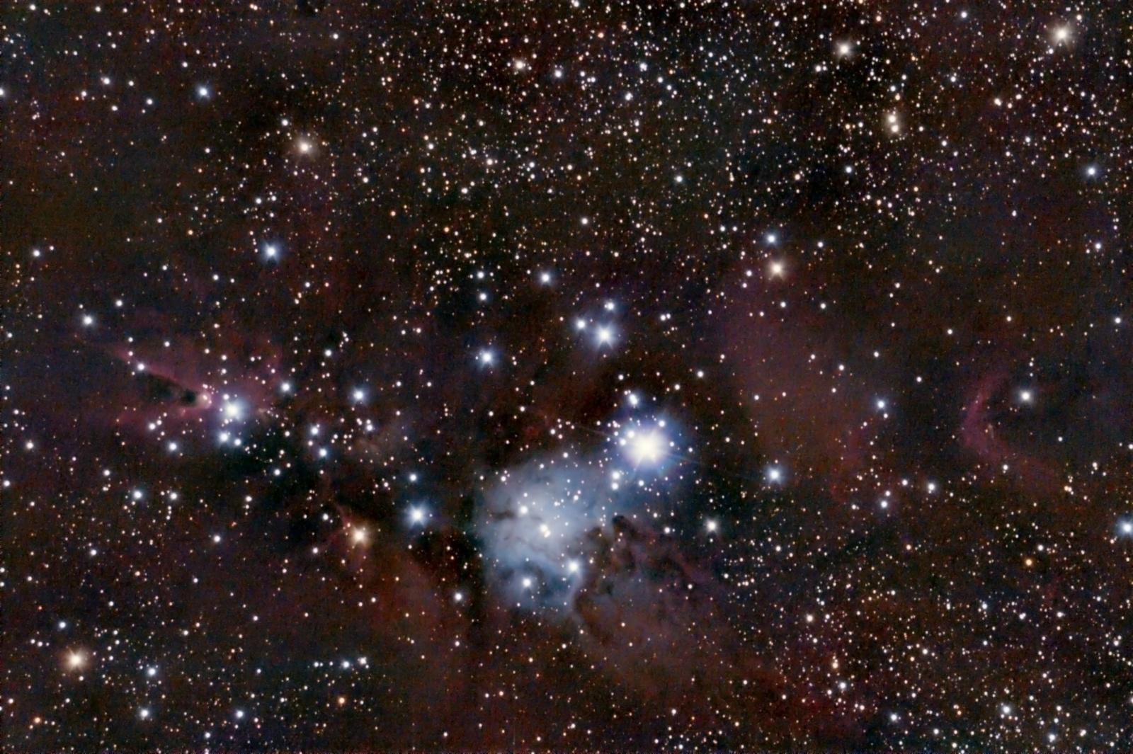 NGC 2264, le Cône APN Newton 180 F/6 983333NGC226436x3mn12MAR2015w