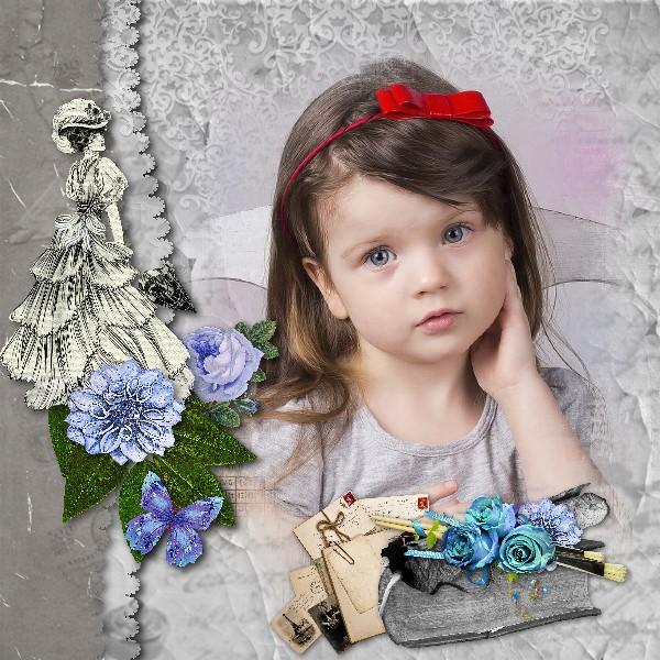 Mes pages CT Floralys scrap 987309KitBlueVintageFloralys26x6