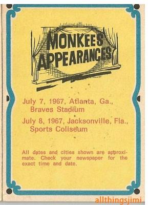 Jacksonville (Coliseum) : 8 juillet 1967 989964Monkees8juillet1967