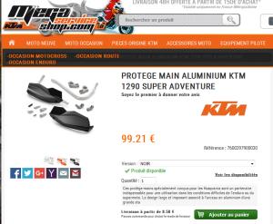 Protèges-mains KTM pour SD 1290 Mini_375037protgesmains