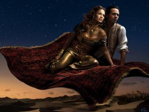 Les stars posent pour Annie Leibovitz pour les campagnes marketing Disney - Page 4 Mini_606284aladinetjasmine2