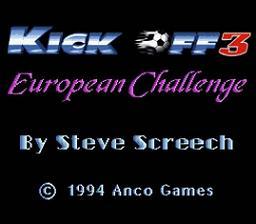 Kick Off 3 : European Challenge - Fiche de jeu Mini_623305341