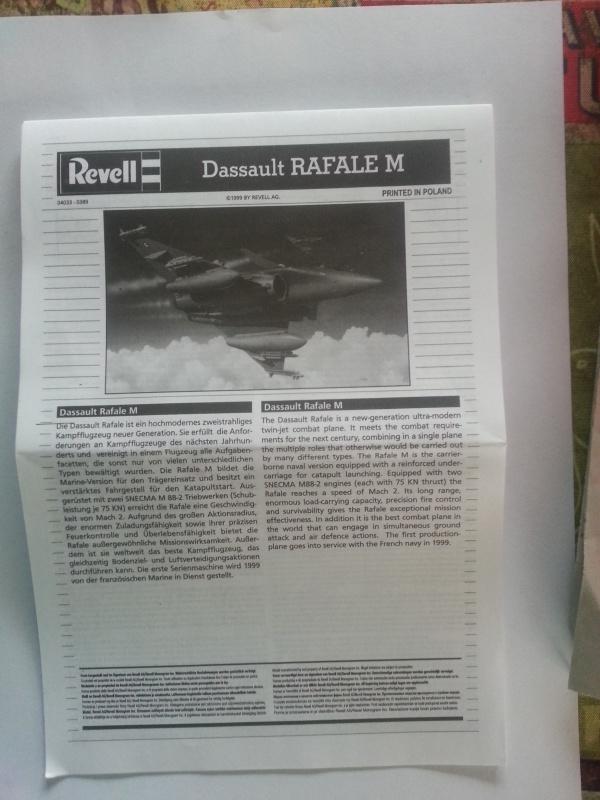 RafaleM au 1/144° de Revell 11805920160924180402