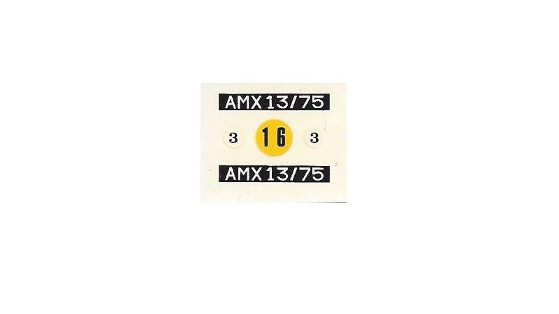 AMX 13 canon de 75 1/35ème Réf L 784 133704AMX1375784014Heller135