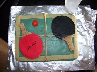 Tennis de table ou ping-pong 139632gateautabledepingvuedudessus