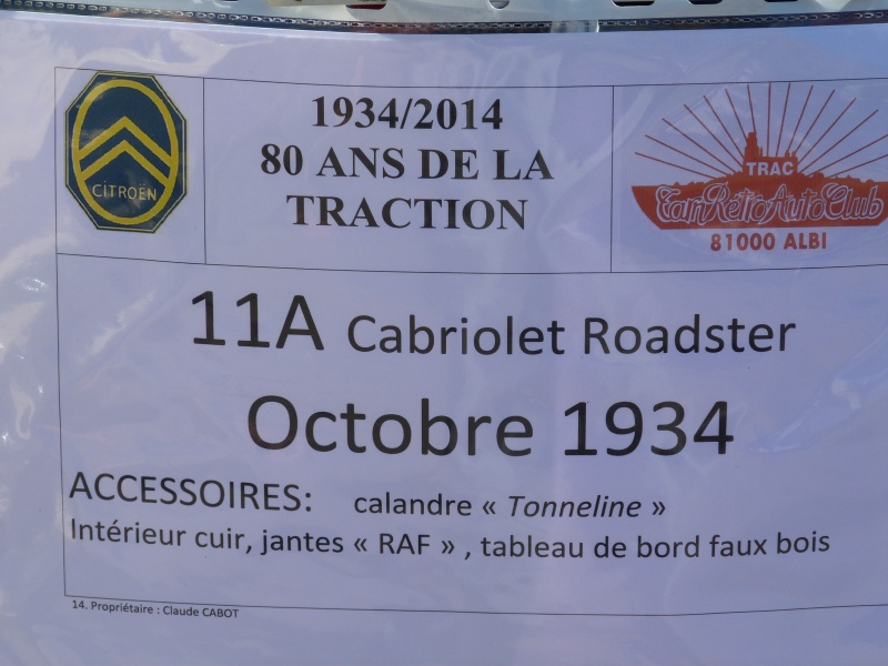 CR : Sortie 13/09/14 pour les 80ans de la Traction Citroen à ALBI (Tarn Retro Auto Club) (pas de MP3) 150936TAV24