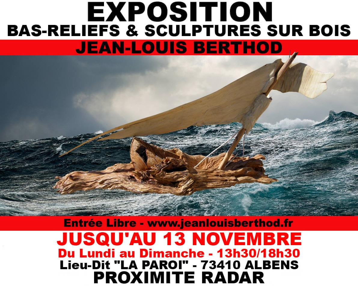 Exposition Bas-Reliefs & Sculptures sur Bois de JL BERTHOD 157608Affiche13novembre8