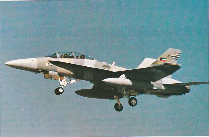 MCDONNELL-DOUGLAS F/A-18 HORNET  158760F_18D_Koweit