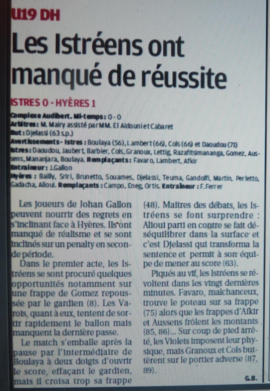 FC ISTRES B  // DHR  MEDITERRANEE  et AUTRES JEUNES  - Page 3 167302P1220087