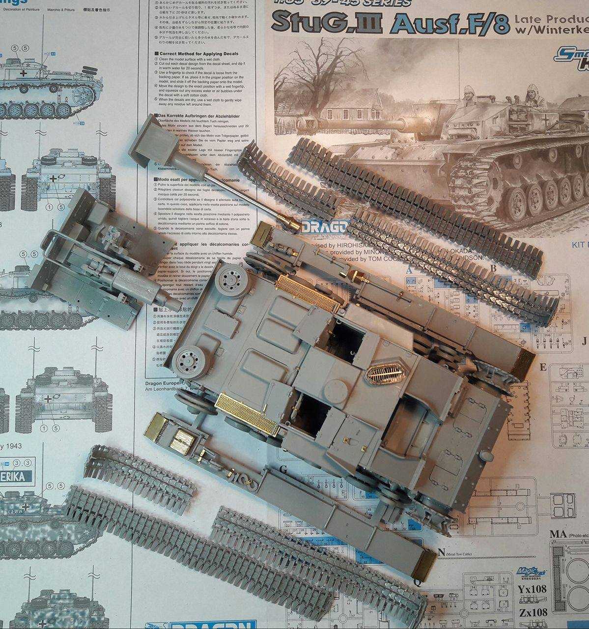 StuG.III Ausf.F/8 late production w/Winterketten - 1/35 - Page 2 183638STUGMajorParts