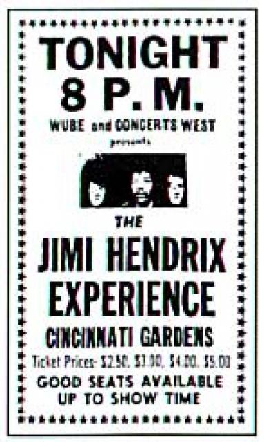 Cincinnati (Xavier University Fieldhouse) : 28 mars 1968  1847371511682