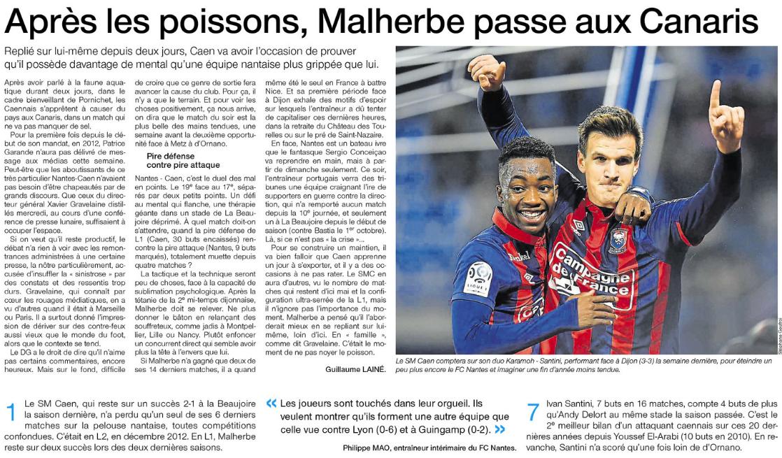 [17e journée de L1] FC Nantes 1-0 SM Caen  185660nantes
