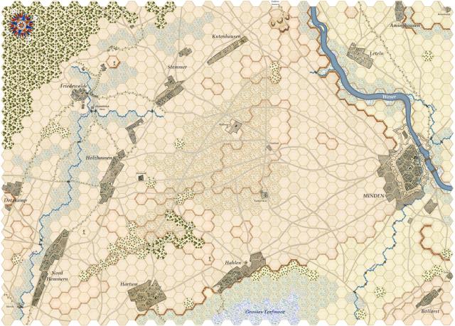 Nouveau Jeu : Bataille de Minden 188228Mindenmap