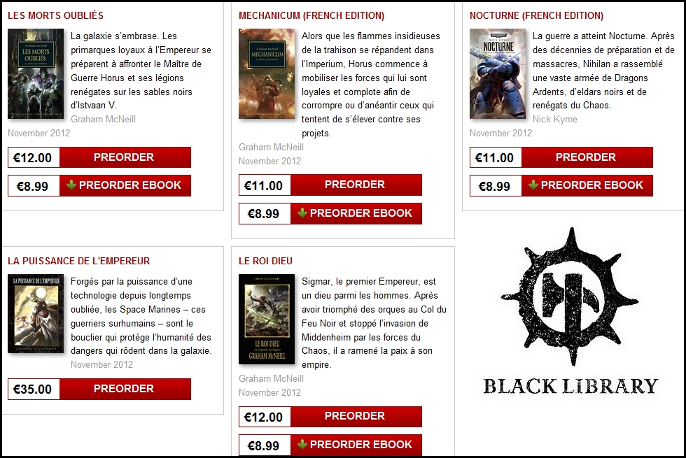 Sorties Black Library France novembre 2012 206812BLFNovembre2012