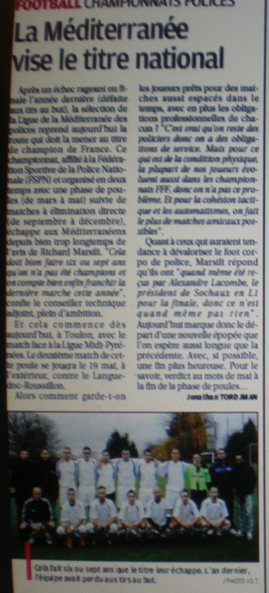 TOUTES SELECTIONS DE LA LIGUE MEDITERRANEE  - Page 2 210047IMGP4886
